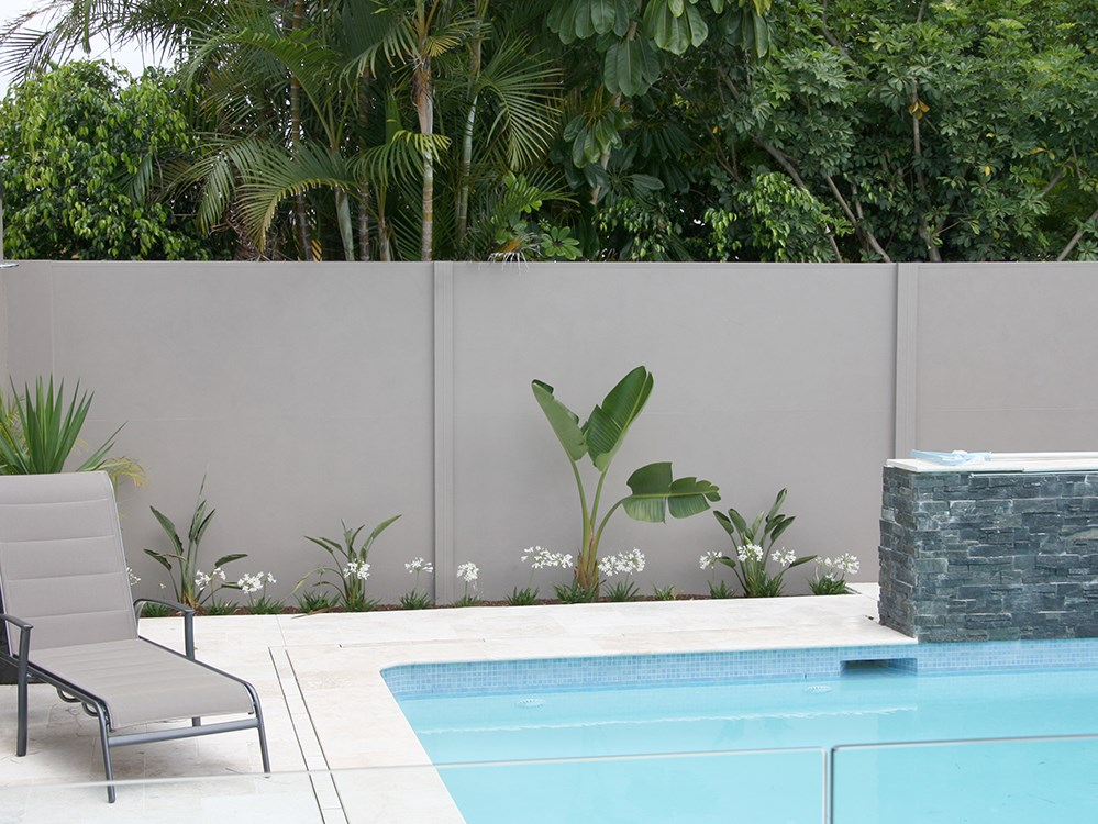 Backyard designer wall