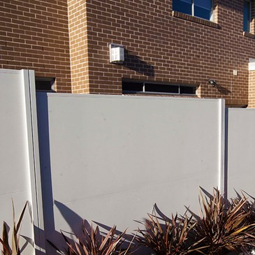 Property boundary wall