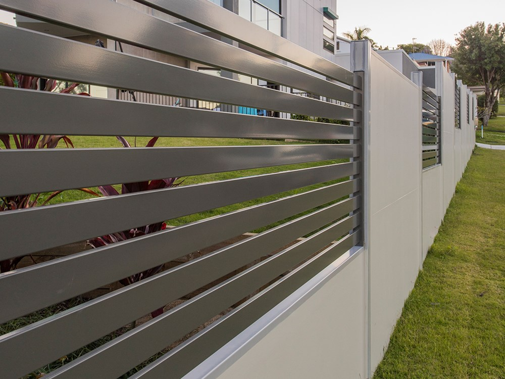 Designer wall with slats